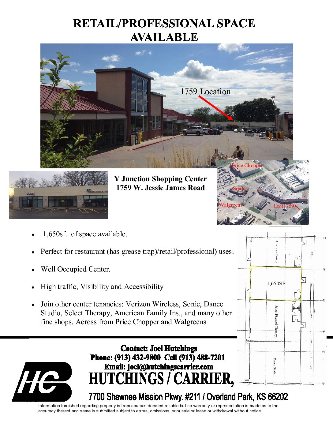 1759 W  Jessie James Road – Hutchings/Carrier Inc